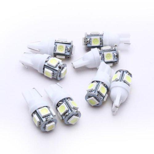 TOOGOO - Juego de 8 Bombillas LED para Luz de coche trasera - Luces para coches Lámpara T10 5 LED 5050 SMD 12V: Amazon.es: Coche y moto