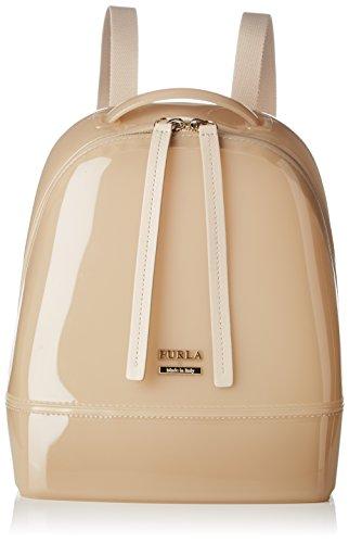 Furla Candy Small Back Pack - Zaini Donna, Beige (Acero), 11.5x25x20 cm (B x H T)
