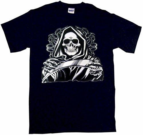 (Hooded Grim Reaper With Scythe Men's Tee Shirt XL-Black)