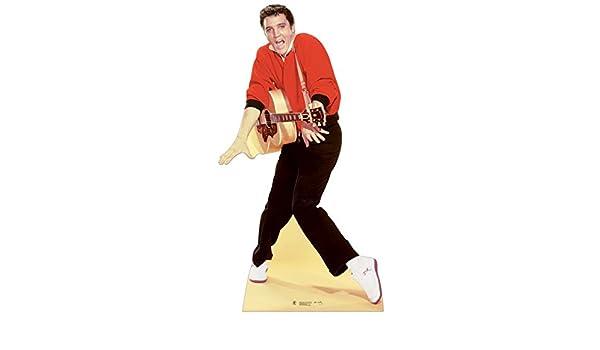 Partyrama Celebrity Cutouts Figura de cartón tamaño/Figura de Elvis Presley – Chaqueta roja y Guitarra: Amazon.es: Hogar