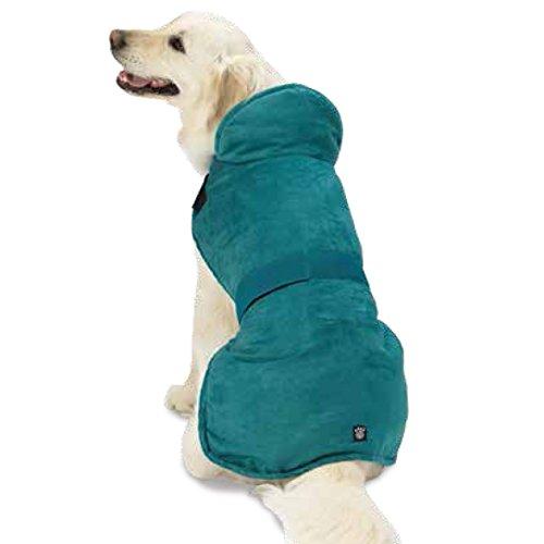 Faux Dog Coat Suede (Pet Rageous 9403TM Dakota Faux Suede Jacket, Medium, Teal)