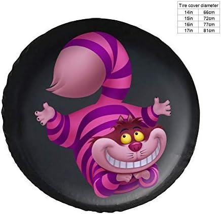 チェシャ猫 アリス タイヤカバー タイヤ保管カバー 収納 防水 雨よけカバー 普通車・ミニバン用 防塵 保管 保存 日焼け止め 径83cm