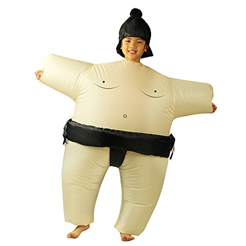 Ehomelife Inflatable Costume Kids Inflatable Sumo Wrestler Wrestling Suits Halloween Costume Cosplay Dress -