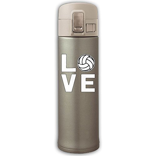 Love Volleyball Stainless Steel Insulated Vacuum Bounce Cover Coffee Mug Keeps Drinks Hot And Cold Tea Kettle - Volleyball Beach Candid