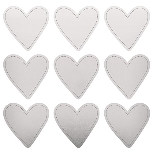 Kaiser Craft Lucky Dip Collection Foil Stickers Silver Hearts (6 Pack)