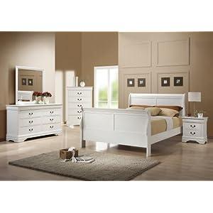 Louis Philippe 6-Drawer Dresser White