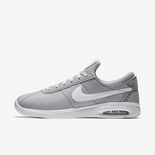 NIKE SB Air Max Bruin Vapor Leather Men's Skateboarding Shoe (11 B(M) US, Wolf Grey/White/White) ()