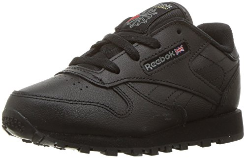 3 Leather Sneaker - Reebok Infant/Toddler Classic Leather Sneaker,Black USA,3 M US Infant