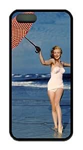 Gentlemen Prefer Blondes Marilyn Monroe Case for Iphone 5 5S - Carrying Case - Black