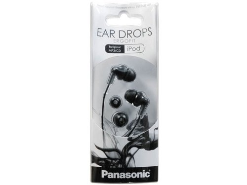 Buy Panasonic ErgoFit Best in Class In-Ear Earbud Headphones RP-HJE120-K Dynamic Crystal Clear Sound, Ergonomic Comfort-Fit, iPhone, Android Compatible, Noise Isolating Headphones -  Black cheapest