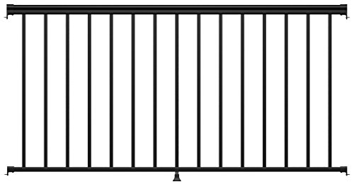Aluminum Deck Railings - Ultimate Aluminum 6' Level Rail Kit - Black Fine Textured