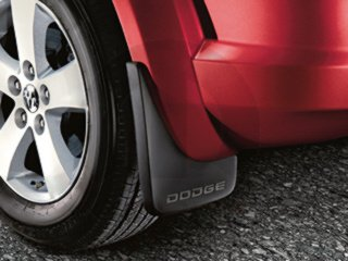 2009-2014 Dodge Journey Flat Molded Splash Guards-Front and Rear w/Dodge (Flat Molded Splash Guards)