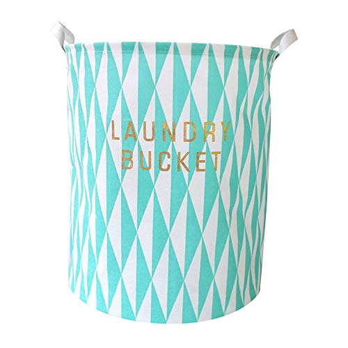 Outsta Waterproof Sheets Laundry Clothes Laundry Basket Storage Basket Folding Storage Bags (Blue) ()