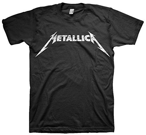 Official Men's Metallica Black and White Logo T-shirt - S to XXL