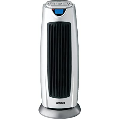 Optimus H-7315 21-Inch Oscillating Tower Heater with Digital Temperature Readout and Remote Control
