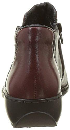 schwarz 00 Mocassini burgund Donna L3890 Nero Rieker Zqx5wXEF5