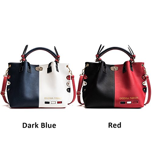 Bags Dark Tote Top Bags Classic Messenger Handbags Large Bag Shoulder Handle Cross Bags Women's Bags Body Bags Elegant Leather Stylish Blue Ladies PU xfOfq1w4