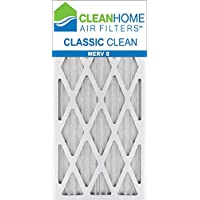 14x30x1 Clean Home - Classic MERV 8 Pleated AC Furnace Air Filter (Pack of 6)