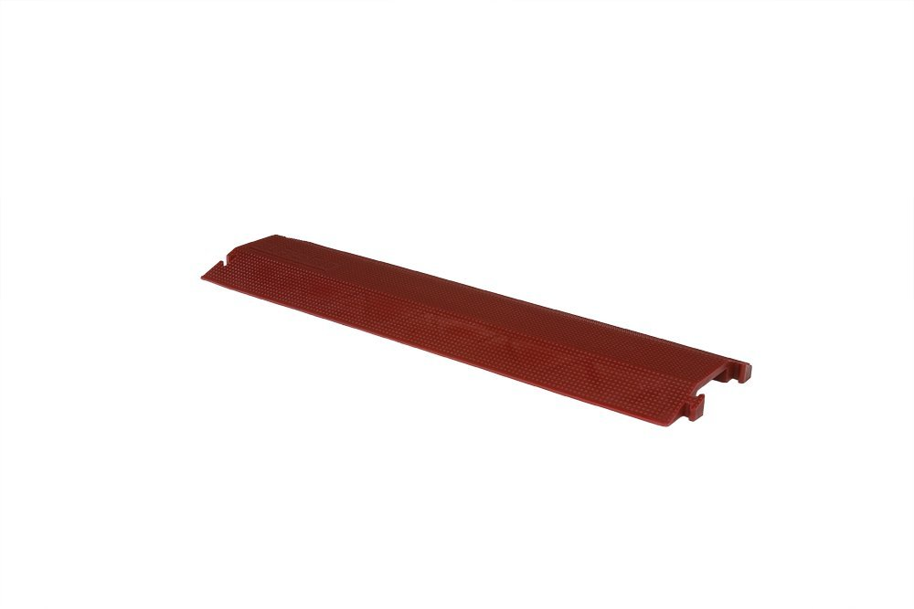 Elasco ED1010-R Drop Over Cable Management, Single Channel, 4'' Channel Width, 1'' Channel Height, 36'' x 10.5'' x 1.5'', 8850 lb. per Tire Load Capacity, Red