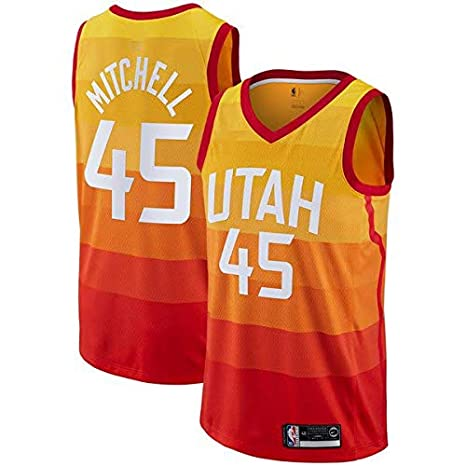 1155d20baa470b canottejerseyNBA Donovan Mitchell - Utah Jazz #45, Basket Jersey Maglia  Canotta, Swingman Ricamata