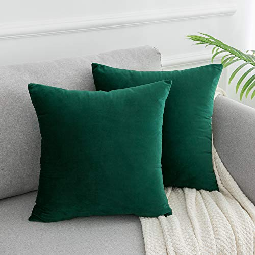 Green Velvet Cushion Set - 4