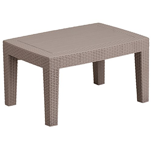 (Flash Furniture Charcoal Faux Rattan Coffee Table , Light Gray - DAD-SF2-T-GG)