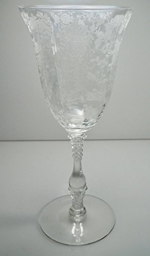 Cambridge Rose Point Clear Water Goblet 8 -