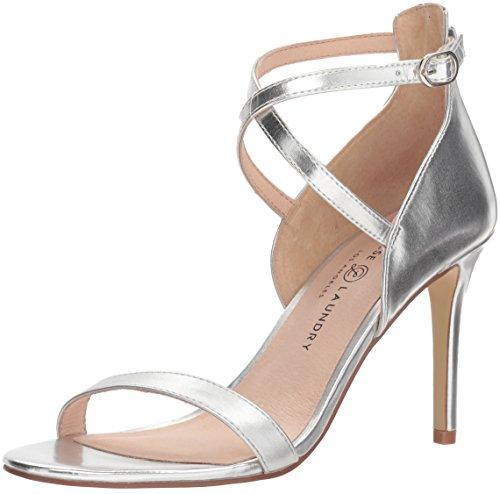 Chinese Laundry Women's SABRIE Heeled Sandal, Silver Metallic, 7 M US