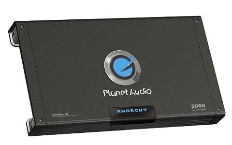 Planet Audio AC5000.1D Anarchy 5000 Watt, 1 Ohm Stable Class D Monoblock Car Amplifier with Remote Subwoofer (Amplifier Monoblock 5000 Watts)