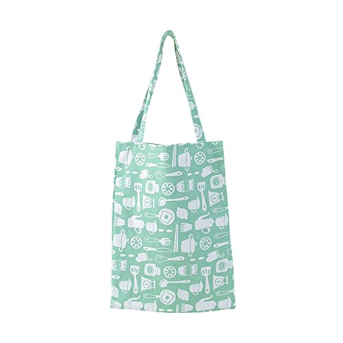 Flowertree Women's Cotton Cute Charming Pattern Canvas Tote Shopping Bag (kitchen tool)
