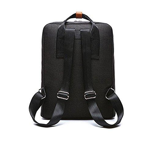Wewod Sencillo Moda Bolsos Universitarios Mochila de Alta Capacidad para Ordenadores Portatiles 15 Pulgada Mochilas para Viaje 29 x 39 x 12 cm(L x H x W ) (Negro) Negro
