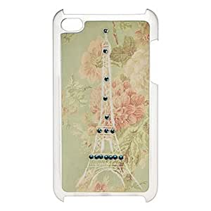 Buy Elegant Tower Pattern Hard Case with Rhinestone for iPod Touch 4