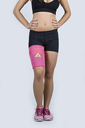 MyProSupports Thigh Compression Sleeve (Pink, X-Large) by MyProSupports
