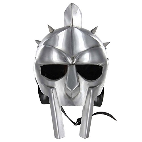 Helm Gladiator (Medieval Functional Helmet of the Spaniard Maximus Roman Gladiator Armor)