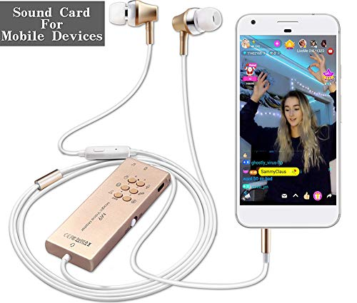 - Headphones for Cam Girl,ZHIQI Microphone with Sound Card for Live, Voice Changer, Built In Sound Effect, Laughing, Applause