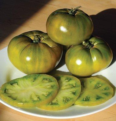 David's Garden Seeds Tomato Beefsteak Cherokee Green D821A (Green) 50 Organic Heirloom Seeds