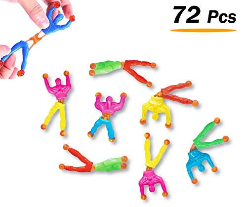 Wall Climber (Liberty Imports Sticky Wall Climber Window Crawler Climbing Men Novelty Toys for Party Favor Kids, 72 PCS)