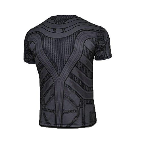 Ciclismo Para Murcielago Hombre Camiseta Corta Gimnasio Manga Ideal Térmica Born2ridetm Compresión O Diseño De Interior Superhéroe cqq8nrZ6Pw