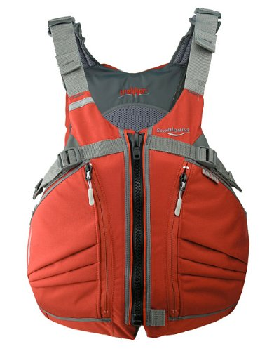 Stohlquist Men's Trekker Life Jacket/Personal Floatation Device (Fireball Red, Large/X-Large)