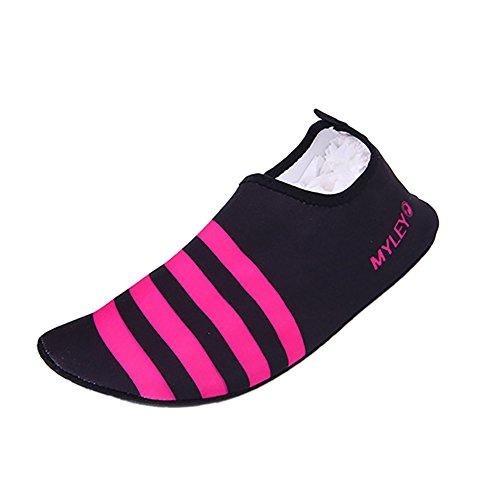 Gsha Wet Unisex Aqua Shoes Water Stripe Shoes Swim Barefoot Shoes Rose Beach Red Sports Shoes rqrtWwTZxd