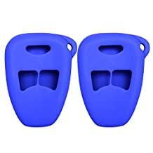 Keyless2Go New Silicone Cover Protective Cases for Remote Keys FCC M3N5WY72XX OHT692427AA OHT692715A - Blue - (2 Pack)