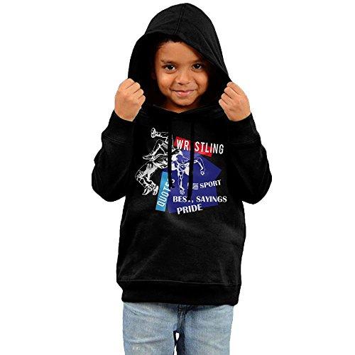 Kids American Flag Wrestling Wrestling Gift Long Sleeves Hoodies Sweatshirt by Yuanzhoud