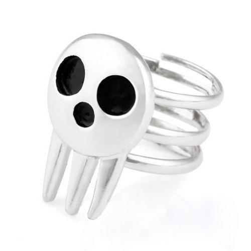Waltzamrt Soul Eater Death the Kid Skull Ring Cosplay Ring
