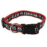 NHL Edmonton Oilers Collar for Dogs & Cats, Medium. - Adjustable, Cute & Stylish! The Ultimate Hockey Fan Collar!