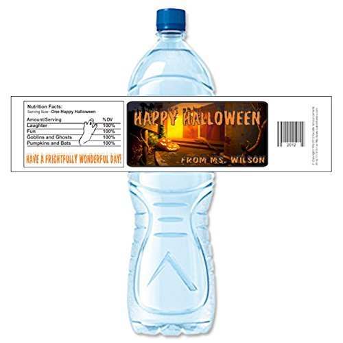 Halloween Water Bottle Labels (set of -