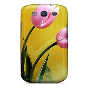 New Arrival Galaxy S3 Case Pink Buds Yellow Smoke Case Cover
