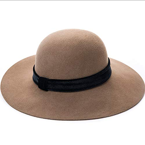 Fashion Hat Fall Winter New Hat Fashion Daxy Bucket Hat Women Wool Comfort (Color : B, Size : M)