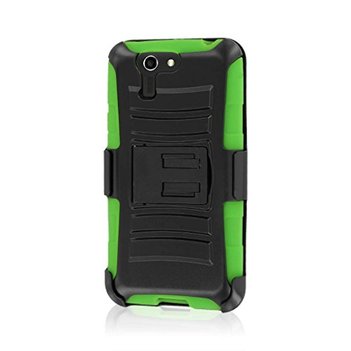 ASUS PadFone X Case, MPERO IMPACT XT Series Kickstand Case and Belt Clip Holster for Asus Padfone X - Neon Green