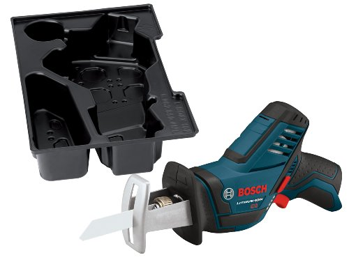 Bosch Bare-Tool PS60BN 12-Volt Max Lithium-Ion Pocket Reciprocating Saw  with Exact-Fit L-BOXX Tool Insert Tray