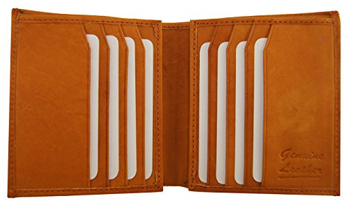 Wallet Slots Tan Hipster 2 ID Leather Multi Cowhide Color Premium European Product Men's Top OwWqpxg6an